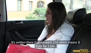 Lovely Russian Girl Foxy Di Gets Tricked By Czech Fake Taxi Driver