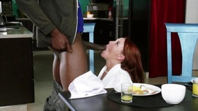 Redhead Slut Is Getting Drilled By Ebony Stepson