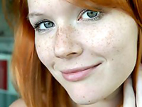 Adorable Redhead Teen Exposes Herself In Front Of Cam