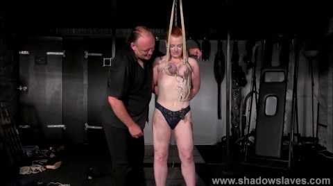 Breast Bondage And Tit Torture Of Redhead Amateur Slave Fiona