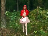 Little Red Cap Girl Gets Lost In The Wood And Walked On Big Bad Wolf