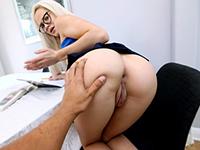Blonde Stepsis Gets Her Studies Interrupted For Pov Fuck