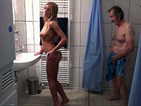 Sexy Blonde Daughter Wants Older Cock