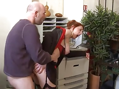 Redhead Mature Is Getting Penetrated Hard From Behind