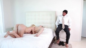 Lucky Guy Gets To Fuck Two Horny Hot Girls