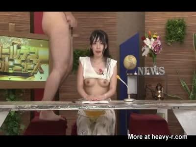 Pissing On Female Announcer Part 2