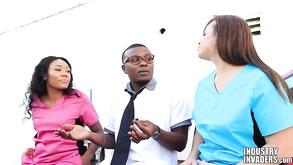 Interracial Nurse Trio