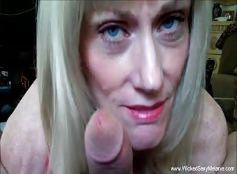 Wicked Amateur Granny Messy Blowjob