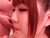 Redhead And Whimsical Asian Pornstar Is Swallowing Penis