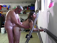 Drunk Teen Girl Fucked Hard By An Old Man In The Garage