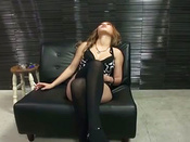 Sizzling Hot Sedcutress In Stockings Loves The Taste Of Warm Load