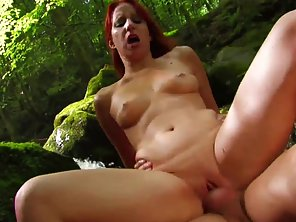 Redhead Teen Sucks Dick Before Hardcore Sex