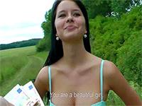 Czech Girl Easily Accepts Couple Of Bucks For Public Fucking