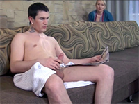 Busty Mature Maid Needs To Taste Her Bosses Son's Cock