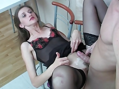 Awesome Russian Lovers Are Having Wild Anal Sex In The Kitchen