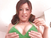 Redhead Asian Pornstar With Huge Breasts Is Swallowing Cock