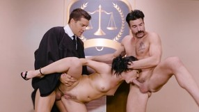 Her First Court Threesome, As A Punishment.