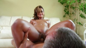 Tattooed Ebony Girl Is Massaging Her Client Wildly