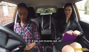 Lovely Ebony Girl Lola Wants To Pass The Test In Fake Driving School