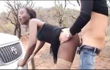 African Whore Satisfies German Hunter