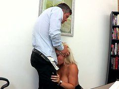 Stocking-clad Dayna Vendetta Fucks Her Boss