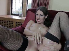 Stocking Whore Jess West Poses In Corset