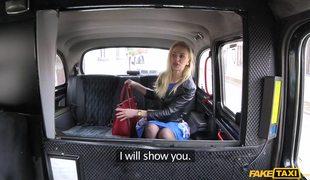 Naked Blonde In Black Stockings Afina Kisser Demonstrating Her Talents