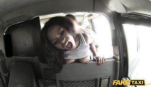 Long-legged Black Beauty Layla Fucks In Fake Taksi
