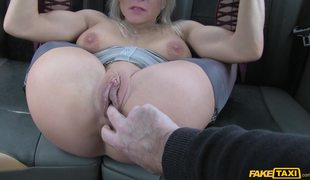 Sexy Blonde In Stockings Tara Spades Has Sex In London Fake Taxi