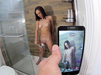 Girlfriend Filmed While Taking A Relaxing Shower And Is Fucked After That