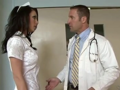 Lusty Doctor Fills Up Nurse's Wet Pussy With His Hard Cock