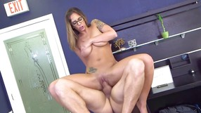 Lady With Glasses Knows How To Make A Cock Hard