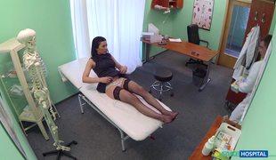 Hot Brunette In Black Stockings Igna Devil Fucked By Fake Doctor