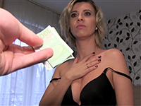 Naive Wife With Short Blonde Hair Cheats On Hubby For Cash