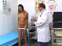 Young Brunette Babe Gets Deep Gyno Examination