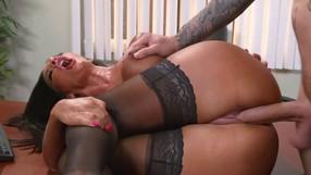 Multitasking Slut Secretary Loves Her Job