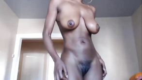 Busty Ebony Penetrates Her Cooter With A Toy In Solo Action