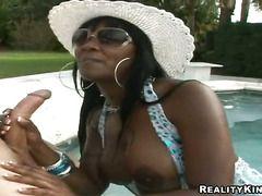 Ebony Barbie Banxxx Jerks The Sperm Out Of Cock