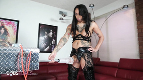 Shemale Plays With Sex Toy