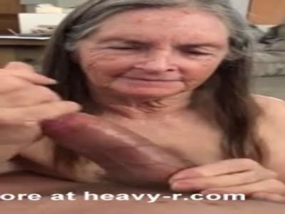 Grandma Jerking A Big Dick