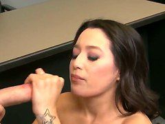 Linda Lay Does The Handjob And Swallows Sperm