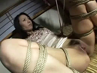 Busty Japanese Milf Housewife Tied Up And Violated