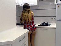 Boy Is Going To Fuck Her Tight Ass Right On The Kitchen Counter
