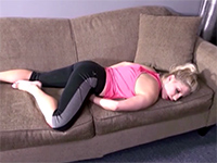 Sleeping Blonde Mom Gets Her Great Ass Stripped And Pounded