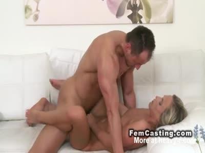 Sexy Blonde Banged Till Cumshot