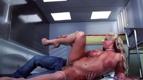 Blonde With Amazing Tits Makes A Man Hard