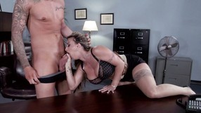 Lustful Blonde Is Showing Her Oral Fuck Skills