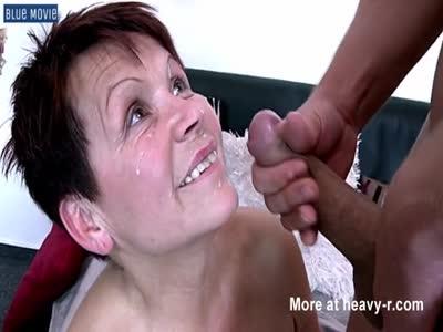 Facial Cumshot For Granny