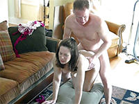 Girl Watches Mom Getting Fucked On The Living Room Floor
