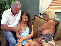 Dirty Olded Couple Took Advantage Over Naive Babysitter